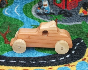 Beautiful, handcrafted, high quality wooden toy car (Roadster).