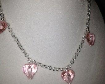 Pink heart shape bead Bracelet