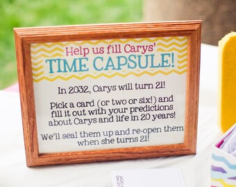 Birthday Time Capsule Kit (Digital Files) CUSTOM COLORS