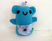 Blue Baby Monster Plush Cute Azure Sailor with Pocket - SquirrelNap