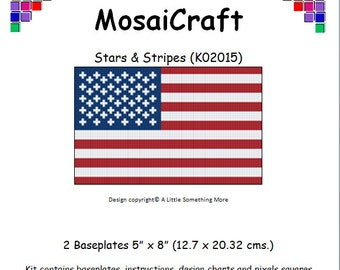 MosaiCraft Pixel Craft Mosaic Art Kit 'Stars & Stripes' (Like Mini Mosaic and Paint by Numbers)