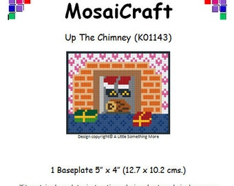 MosaiCraft Pixel Craft Mosaic Art Kit 'Up the Chimney' (Like Mini Mosaic and Paint by Numbers)