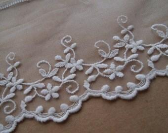 1 Yard 15cm Ivory Edwardian Lace