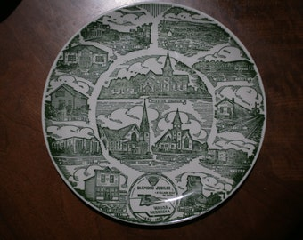 1965 Wausa, NE Diamond Jubilee Commemorative Plate