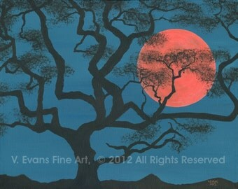 "16 x 20 inch Fine Art Print ""Serengeti Moonrise"""