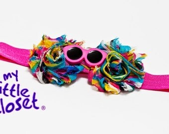 Pink rainbow Headband