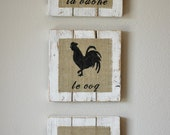 French Country Farm Animal Signs Made of Reclaimed Wood - SignsbyAaron