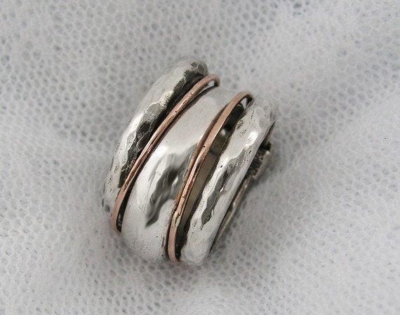 unique sterling silver gold stacking ring gold stacking