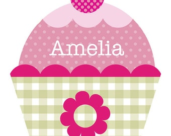 Personalized Cupcake Wall Decal
