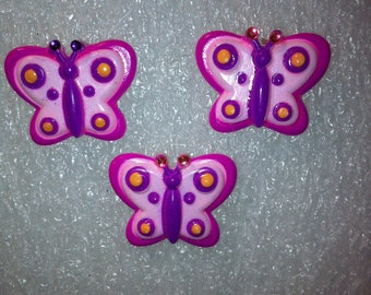Butterfly Pin and Earrings Set