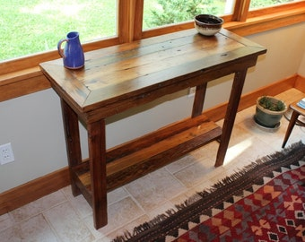 Rustic Reclaimed Barnwood Entryway Table Side Table Console Table Sofa Table