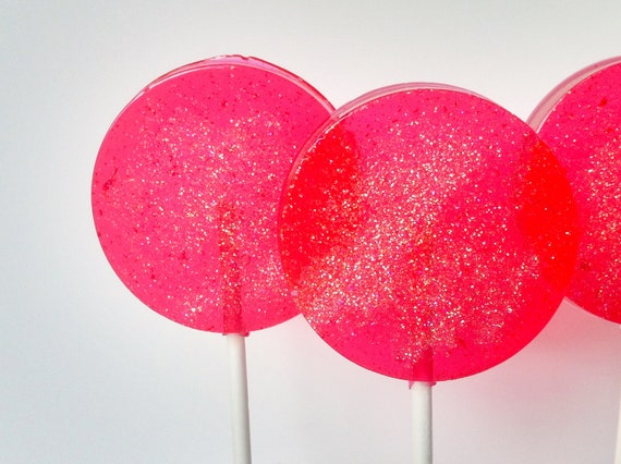 Guava Hard Candy Lollipops-Party Favors, Delicious Hard Candy Suckers, Candy, Fruity Candy, Baby Shower gifts-SIX LOLLIPOPS