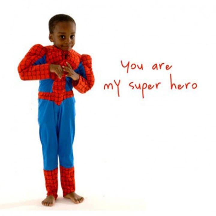 Boys birthday card Superhero Son Brother Boyfriend – Birthday Cards for the Blind
