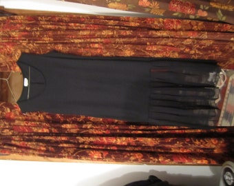vintage black steampunk,goth,vampire  flapper style dress size M