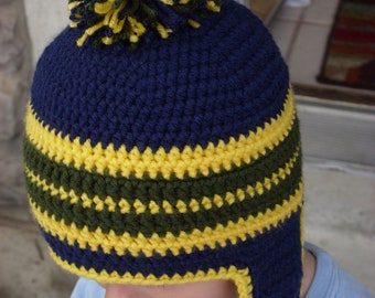 Warm Beanies (set of 2) with Ear Flaps
