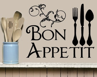 Popular items for kitchen wall decal on Etsy