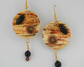 Serengeti Sunset Handpainted Earrings