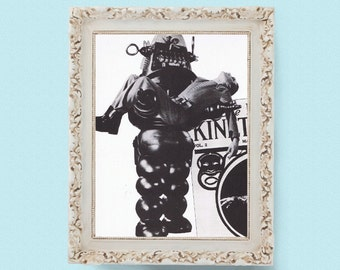 """Vintage Robby the Robot Forbidden Planet Robot Sci-fi Book Page 8.25""""x11"""""""