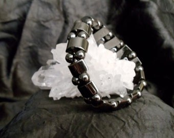 Natural Hematite Stretch Bracelet