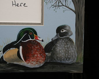 Woodduck picture mat