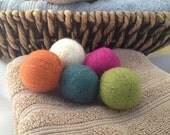 set of 5 felt wool dryer balls / wool dryer balls / small dryer balls