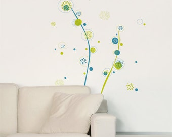 Wild Burst - Wall Decal - Coordinated Colors - H54 x W53