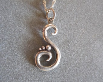 Sterling Silver Swirl Pendant #PDT105SS