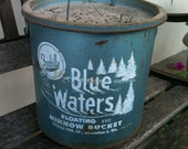 Vintage Frabill's  Blue Water Floating Minnow Bucket - CocoasVintageVillage