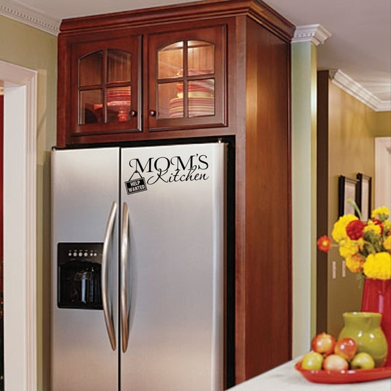 Kitchen Cabinet Fridge: Home Wall Appliance Decal Mom's Kitchen By CEWgraphicsNdesigns
