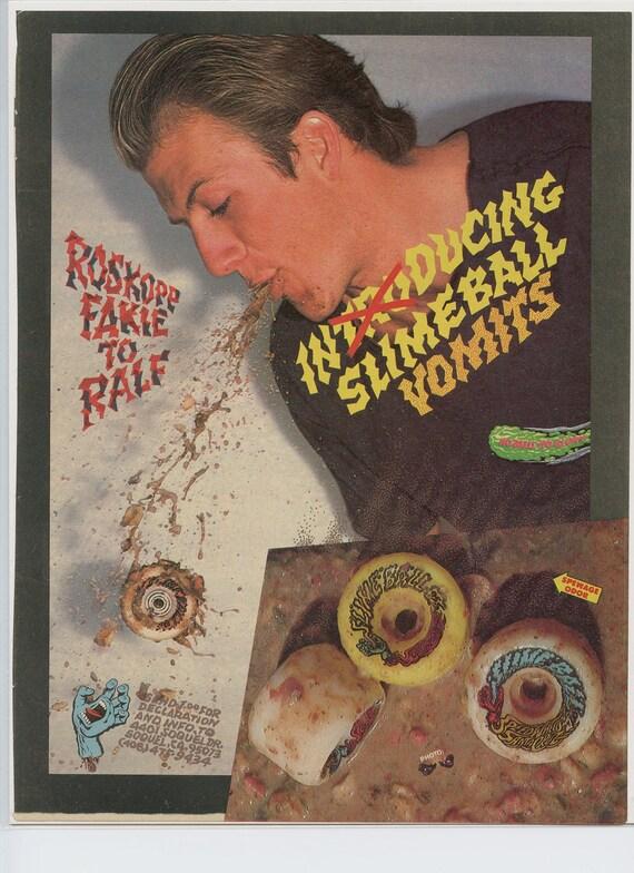 Rob Roskopp Santa Cruz Skateboard Ad Vintage Advertisement