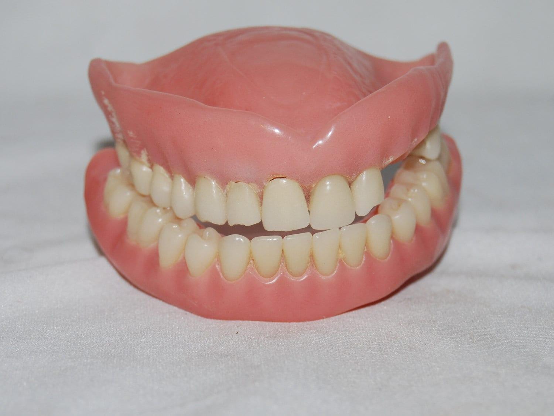 Vintage DENTURES False teeth acrylic human teeth oddity