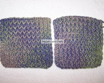 Sage to Purple Potholder Set
