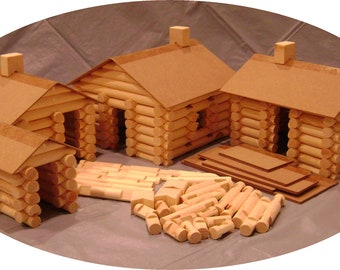 Handmade 'Lincoln Logs' extra large 234 piece set
