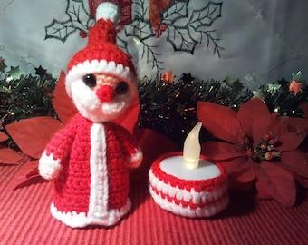PDF crochet pattern light figure Santa Claus