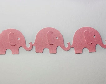 50 Pink Elephant Confetti, Die Cut Elephants, Birthday Party Supplies, Girl Baby Shower, Confetti, Scrapbook, Embellishments