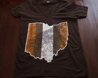 FREE SHIPPING Cleveland Ohio Women's V-Neck