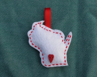 Wisconsin Felt Ornament
