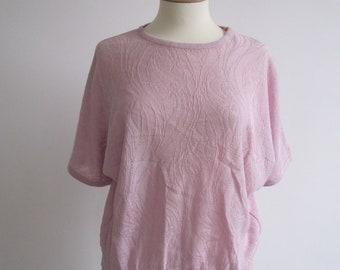 Vintage Pink Batwing Top