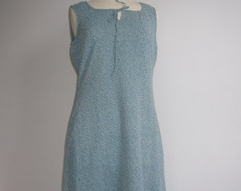Pale Blue Vintage Floral Dress