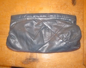 Blue Oversized Vintage Clutch Bag