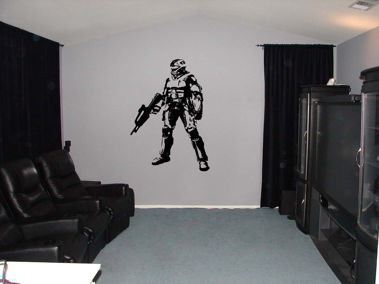halo xbox video game vinyl wall sticker 34h by