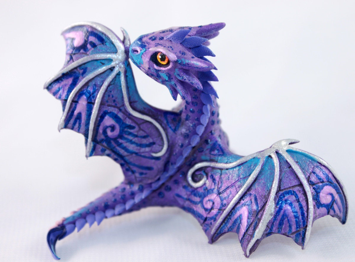 Little Dragon cute lavender purple oriental dragon fantasy
