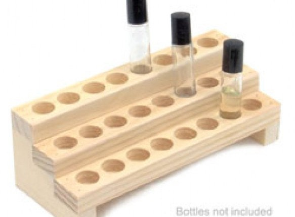 Wooden Display Rack For Fragrance Or Essential Oils 3 Row