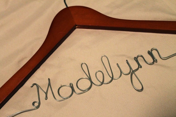 Deal of the Day Sale Personalized Wedding Dress Hanger Customized with any name for Bride, Bridesmaid, Mother of Bride, Bridal Party