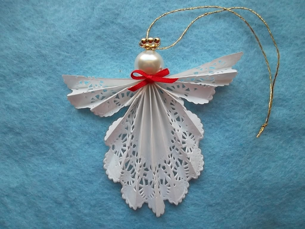 Paper doily angel ornament for Craft angels to make