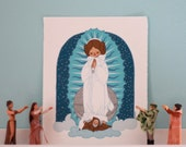 Our Lady of the Rebellion - Princess Leia/Virgin of Guadalupe Art Print