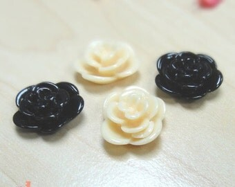 17mm resin flower x 30 pcs (V-25)