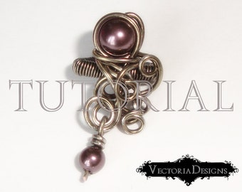 Baroque Ear Cuff Tutorial Instant Download Tutorial wire wrapping tutorial jewelry making diy hobby crafting crafter