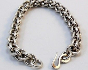 Argentium Silver and Gold Fill Bracelet - Jens Pind Weave
