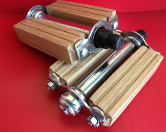 Wooden bicycle pedals Italian accessories gift